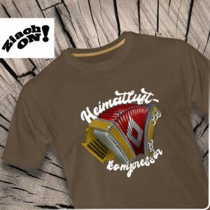 Steirische Harmonika Heimatluftkompressor T-Shirt