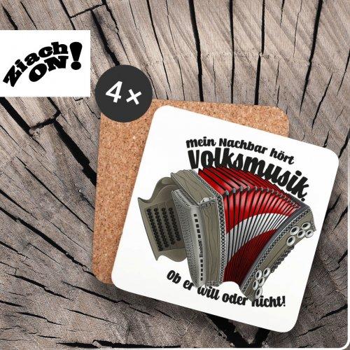 Steirische Harmonika Zubehör Untersetzer Volksmusik
